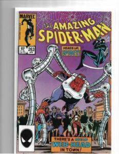 AMAZING SPIDER-MAN #263 VF/NM 1985 - 1ST NORMY OSBORN - COPPER AGE KEY