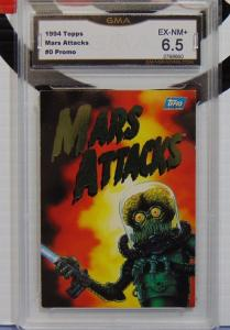 1994 Topps Mars Attacks Title Card #0 Promo Card - Graded EX-NM+ 6.5