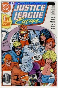 JUSTICE LEAGUE EUROPE #1, Bart Sears, NM-, Wonder Woman