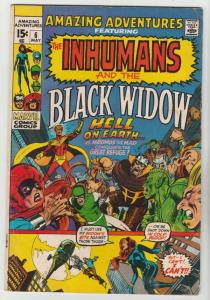 Amazing Adventures #6 (May-71) FN/VF- Mid-High-Grade Black Widow, Inhumans
