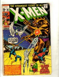 Uncanny X-Men # 65 GD Marvel Comic Book Angel Professor X Cyclops Beast NP9