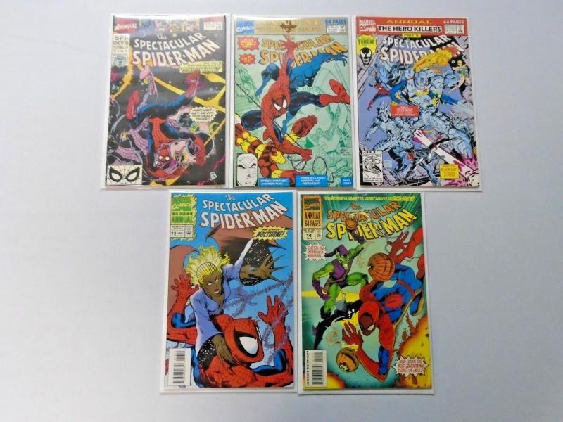 Spectacular Spider-Man Annual lot #4-14 avg 7.0 (1984)