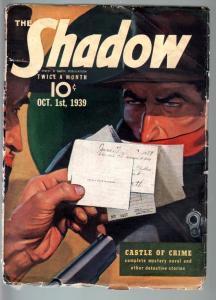 SHADOW OCT 1 1939-MAXWELL GRANT-GRAVES GLADNEY-G/VG-RARE PULP G/VG