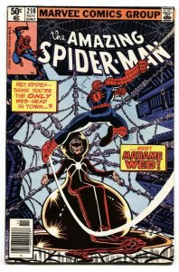 AMAZING SPIDER-MAN #210 comic book-1980-MARVEL First Madame Web VF-