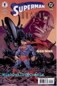 SUPERMAN vs ALIENS II #1, NM+, God War, Darkseid, Acid,  more in store
