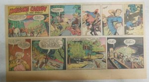 Hopalong Cassidy Sunday Page by Dan Spiegle from 12/9/1951 Size 7.5 x 15 inches