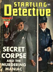 STARTLING DETECTIVE-NOV 1941-SPICY-MURDER-KIDNAP-FLAMING DEATH-good G