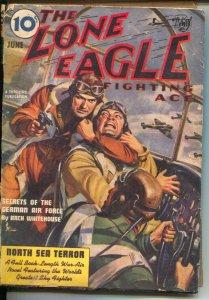 Lone Eagle 6/1940-Thrilling-aviation hero pulp-Alex Schomburg-Arch Whitehouse...