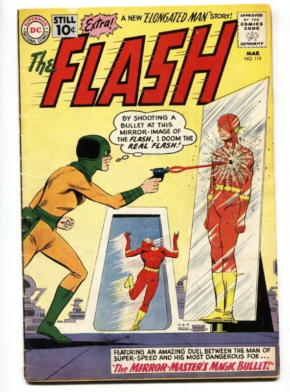 Flash 119 1961 Dc Comics Magic Bullet Elongated Man G Vg Hipcomic
