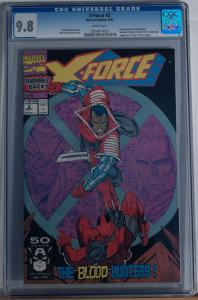 X-FORCE #2, CGC = 9.8, NM/M, 2nd Deadpool, Weapon X, 1991 , more CGC in store