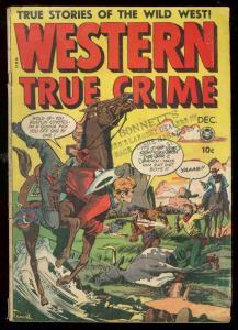 WESTERN TRUE CRIME #3 1948-FOX FEATURES-JACK KAMEN-RARE VG