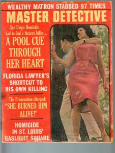 MASTER DETECTIVE JUL 1965-FR/G-MURDER WITH POOL CUE THROUGH HEART!-TRUE  FR/G