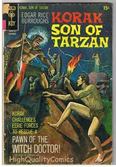 KORAK, SON of TARZAN #38, GD+, Burroughs, Gold Key, 1964