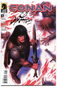 CONAN #1, NM, Signed by Joseph Linsner, Dark Horse, Blood, 2004, more in store