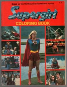Supergirl Coloring Book 1984-Helen Slater photo cover-VF