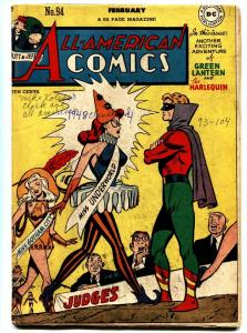 All-American Comics #94 1948- Green Lantern- Harelquin- DC Golden Age