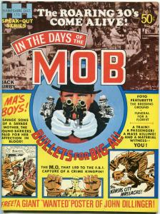 IN THE DAYS OF THE MOB Magazine #1 1971-KIRBY-CRIME-DILLINGER FN
