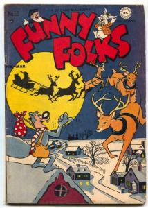 Funny Folks #12 1948- Nutsy Squirrel- Christmas cover VG