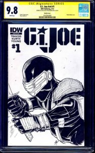 G.I. Joe #1 BLANK CGC SS 9.8 ORIGINAL Snake Eyes SKETCH by Steve Kurth IDW NM/MT