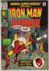 Marvel Super-Heroes #28 (Oct-70) VF/NM High-Grade Daredevil, Iron Man