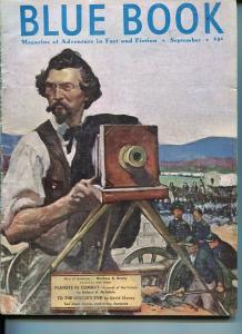 BLUE BOOK PULP-SEPT 1951-G/VG-FULTON COVER-MATTHEW BRADY-HEINLEIN-CHENEY G/VG