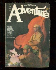 ADVENTURE PULP-7/30/1923-PIRACY COVER-J ALLAN DUNN-RARE-good/very good G/VG