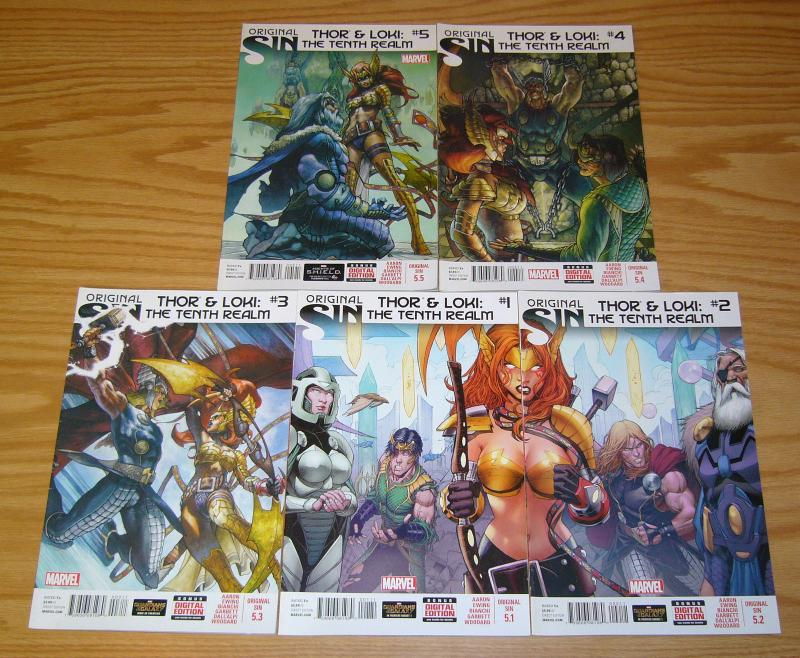 Original Sin: Thor & Loki - the Tenth Realm #1-5 VF/NM complete series - angela