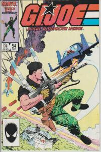 G.I. JOE - A REAL AMERICAN HERO! #54 - MARVEL COMICS, BAGGED & BOARDED