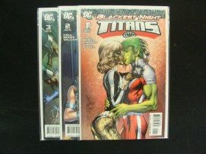 Blackest Night Titans #1-3 Complete Set Run DC Green Lantern