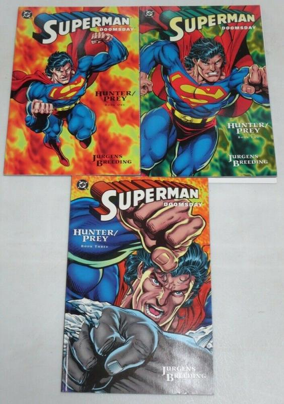 SUPERMAN DOOMSDAY HUNTER PREY (1994) 1-3 (4.9