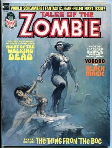 Tales of the Zombie #1 1973- Boris Vallejo- Marvel Monster Horror Magazine
