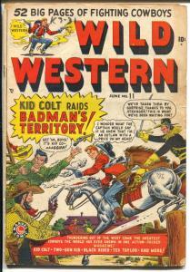 Wild Western #11 1950-Marvel-Kid Colt-Two-Gun Kid-Black Rider-VG