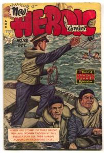 Heroic Comics #93 1954- Dangerous Rescues- Golden Age VG-