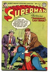 SUPERMAN  #92-1954-DC-comic book- Golden Age FN+