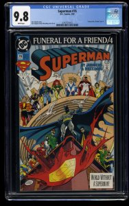 Superman (1987) #76 CGC NM/M 9.8 White Pages
