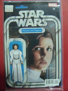 PRINCESS LEIA #01 ACTION FIGURE VARIANT  COVER NM 9.4 MARVEL COMICS 2015 SERIES