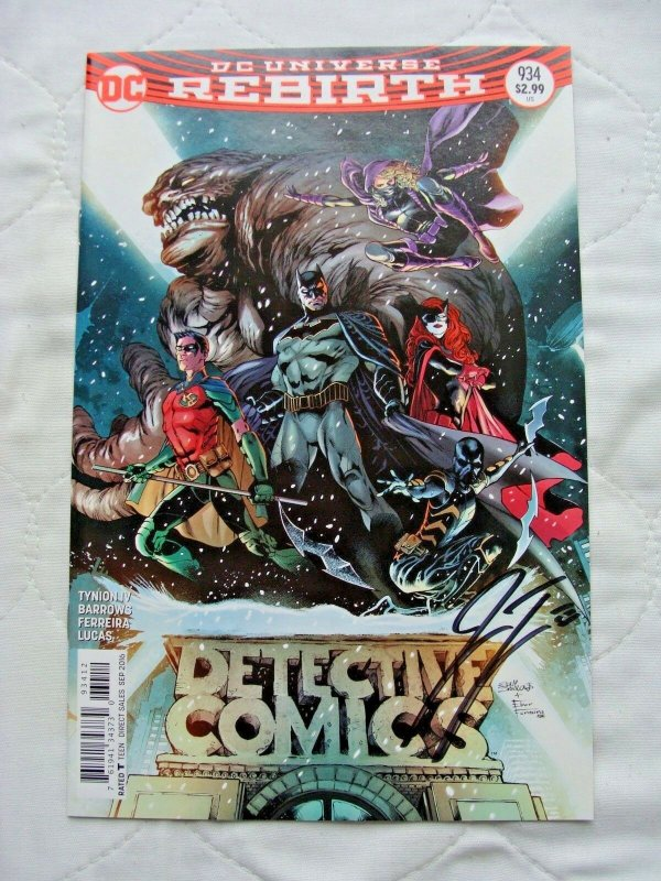 Detective Comics #934 (September 2016, DC) Signed by James Tynion 2nd Print NM-