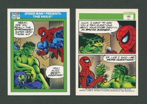 1990 Marvel Comics Card  #152 (Spiderman Presents: Hulk) / MINT