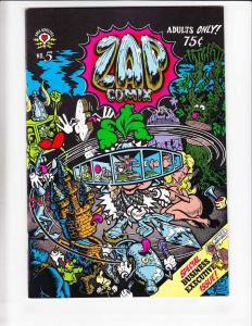 Zap Comix #5 VF/NM (2nd) s. clay wilson ROBERT CRUMB moscoso GILBERT SHELTON