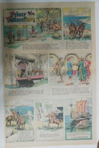 Prince Valiant Sunday #1710 by Hal Foster from 11/16/1969 Rare Full Page Size !