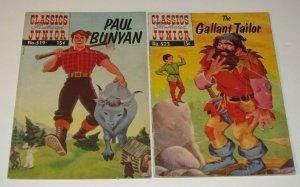 Lot/2 Classics Illustrated Junior #519 FN #523 VG+ 1955 Golden Age Paul Bunyan