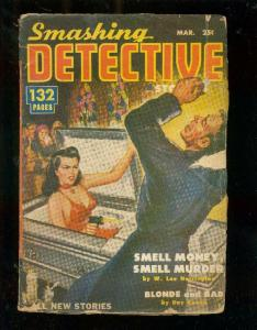 SMASHING DETECTIVE STORIES PULP #1-MAR 1951-DAY KEENE G