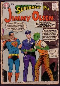 SUPERMAN'S PAL JIMMY OLSEN #32 1958-SUPERMAN-BARGAIN-DC FR