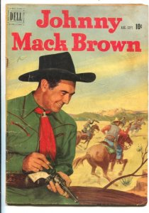 Johnny Mack Brown #6 1951- Dell-B-western  film star photo covers-Jesse Marsh...