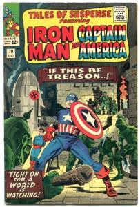 TALES OF SUSPENSE #70 1965-IRON MAN-CAPT AMERICA-NAZI FN