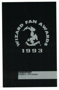 Wizard Fan Awards pamphlet VF/NM philadelphia comicfest october 9, 1993 nominees