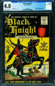 BLACK KNIGHT #1 CGC 4.0-1955-ATLAS-1ST ISSUE-ORIGIN-2039499001