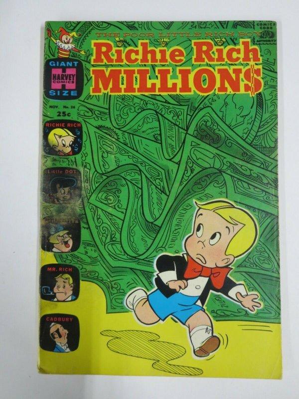 RICHIE RICH MILLIONS #26 (Harvey,12/1967) GOOD  (G)