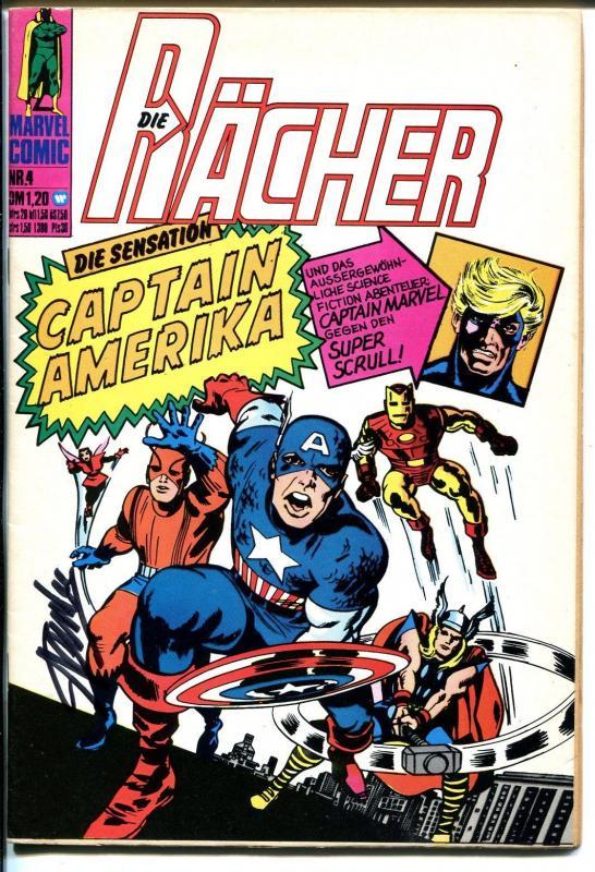 Die Racher #4 1974-Marvel-German Edition-CGC 7.5 Yellow label-Jack Kirby-VF+
