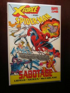 X-Force and Spider-Man Sabotage #1 - VF - 1992